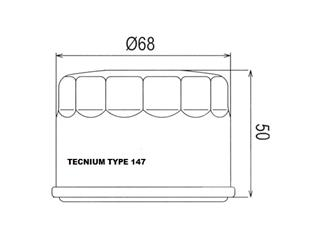 TECNIUM Type 147 Oil Filter Black - a7581bee-fec4-442c-be67-83a19146aa3d