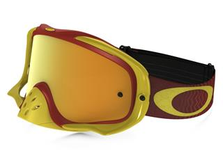 Masque OAKLEY Crowbar MX Shockwave Yellow/Bright Red écran 24K Iridium + transparent