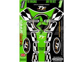 Protector de depósito Motografix Isla de Man TT 4 piezas verde