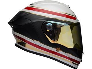 BELL Race Star Flex Helmet RSD Gloss/Matte White/Red Carbon Formula Size M - a764eef4-ed33-466a-abe9-3c0654542e5d