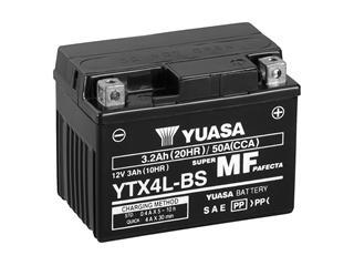 Batterie YUASA YTX4L-BS sans entretien livrée avec pack acide