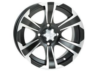 ITP SS316 12x7 4x110 2+5 Aluminum Utility Wheel Black / Silver