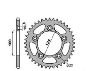 Couronne acier PBR 36 dents chaîne 520 Ducati 899 Panigale - 47000164