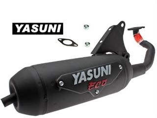 YASUNI Eco Black Steel Exhaust System Suzuki AY50