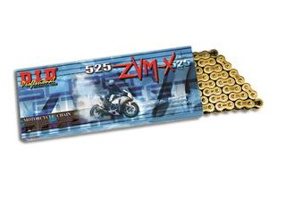 D.I.D 525 ZVM-X Transmission Chain Gold/Gold 116 Links