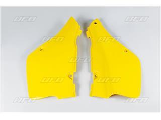 Tampas laterais traseiras UFO amarela Suzuki RM250