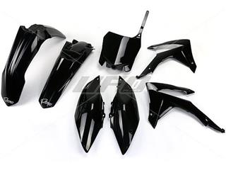 UFO Plastic Kit Black Honda CRF250R/450R