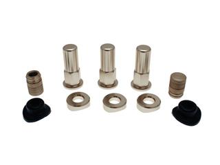 BIHR Rim Lock Screw Set Aluminium w/ Caps & Valve Seal
