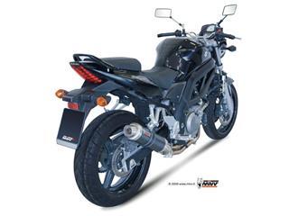 Silencieux + demi-ligne MIVV GP carbone Suzuki SV650  - MVS015L2S