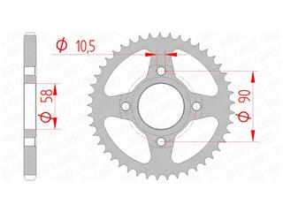 AFAM Rear Sprocket 47 Teeth Steel Standard 428 Pitch Type 10223