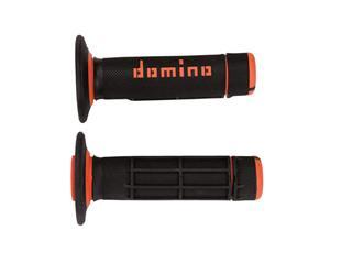 DOMINO A020 Bicolore MX Griffgummis Halbwaffel-Design schwarz/orange - 872129