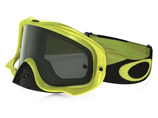 OAKLEY Crowbar MX Goggle Heritage Racer Team Bright Green Dark Grey Lens