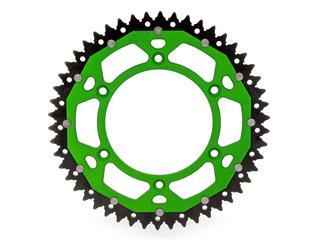 Couronne ART Bi-composants 50 dents aluminium/acier ultra-light anti-boue pas 520 type 460 vert - 4090001550