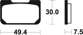 TECNIUM BRAKE PADS TYPE MCR259