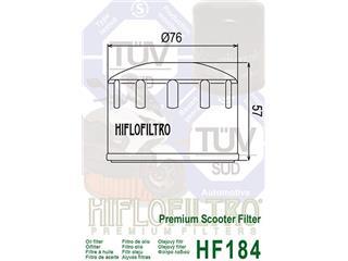 HIFLOFILTRO HF184 Oil Filter - abeb71fc-9514-41a2-84c2-d0ff91727967