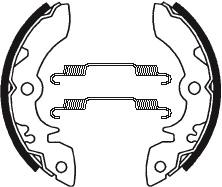 Machoires de frein TECNIUM BA051 organique