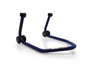 "BIHR BY LV8 Rear Stand with ""V"" Rubber Adaptors Blue Universal"