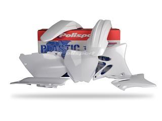 Kit plastique POLISPORT blanc Yamaha YZ125/YZ250 - PS111W04