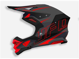 UFO Diamond Helmet Matt Black/Red Size M - 801000610169