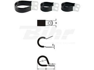 Aprieta cable BIHR inox de goma fino Ø14,3mm - 891389