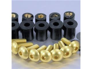 Kit of eight Pro-Bolt gold aluminium windshield screws