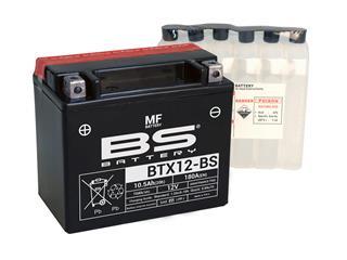 Batterie BS BATTERY BTX12-BS sans entretien livrée avec pack acide