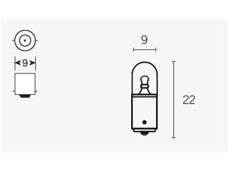 Boite de 10 ampoules V PARTS T8.5 6V-4w