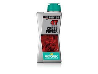 Huile moteur MOTOREX Cross Power 4T 10W50 100% synthétique 1L
