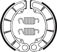 Machoires de frein TECNIUM BA059 organique - 390590
