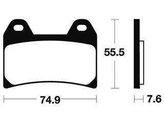 Plaquettes de frein TECNIUM MA227 organique - aefc5ff1-b840-4f96-98a8-fd16aa0bb9be