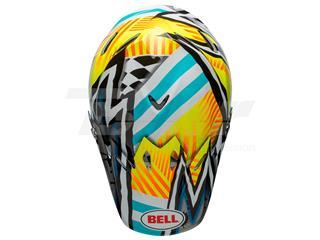 Visera casco Bell Moto-9 MIPS Tagger Assymetric Amarillo/Azul
