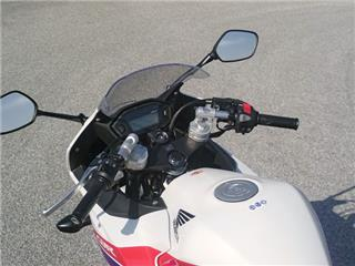 LSL Tour Match Lowered Clip-on Bars Silver Honda CBR500R