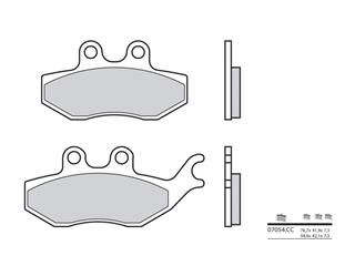 BREMBO Brake Pads 07054CC Carbon Ceramic