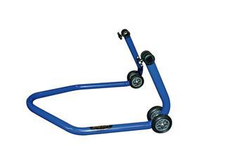 """Béquille arrière universelle BIKE LIFT bleu avec supports caoutchouc en """"L"""" - 892042"""