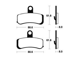 Plaquettes de frein TECNIUM MF353 métal fritté - afcb6466-0c54-41d2-a912-77cc0a5e649f