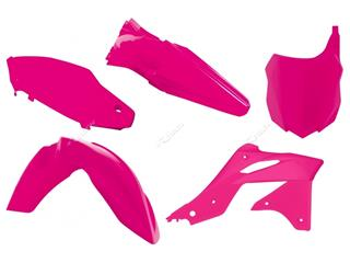 Kit plastique RACETECH rose fluo Kawasaki KX250F - 7804613