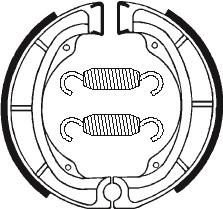 Machoires de frein TECNIUM BA016 organique