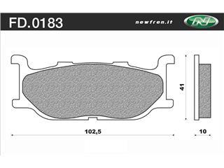NEWFREN Brake Pads FD0183SE Sintered Metal - 3801831
