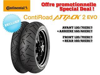 2 Sport-Touring Tire Pack CONTINENTAL ContiRoadAttack 2 EVO (120/70 ZR 17 + 160/60 ZR 17)