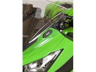 Caches orifice rétroviseur R&G RACING noir Kawasaki
