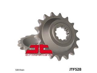 JT SPROCKETS Front Sprocket 17 Teeth Steel Standard 530 Pitch Type 528
