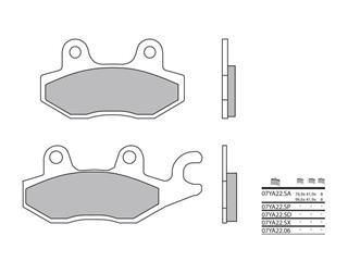 Plaquettes de frein BREMBO 07YA22SP métal fritté - 38800031