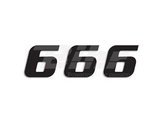 Numeros de carrera negro - Pack de 3 Uds Blackbird PVC 5049/20/6 - 39054