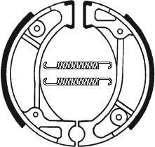 Machoires de frein TECNIUM BA057 organique