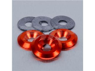 Arandela de Aluminio avellanada M6 naranja LWAC6-22O - 50162