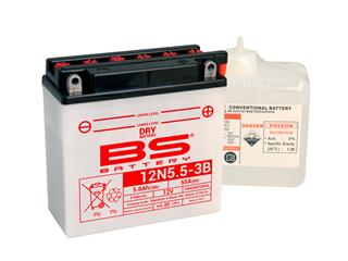 BS BATTERY Battery 12N5.5-3B Conventional with Acid Pack