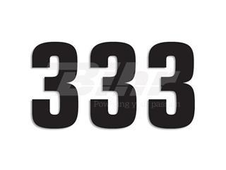 Numeros de carrera negro - Pack de 3 Uds Blackbird PVC 5048/20/3