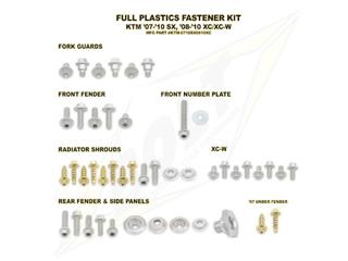 Complete set of Bolt plastic screws for KTM SX/SX-F