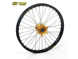 HAAN WHEELS Complete Front Wheel 17x3,50x36T Black Rim/Gold Hub/Silver Spokes/Silver Spoke Nuts