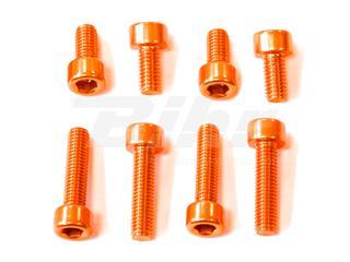 Kit parafusaria tampa reservatório Pro-Bolt alumínio TYA155O laranja